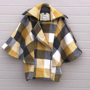Anthropologie Cartonnier Cape Coat Jacket Small